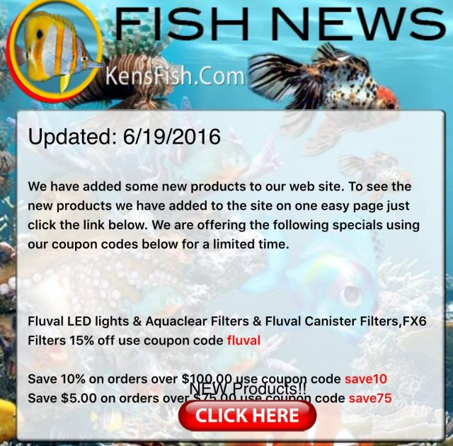 Anyone have a current kensfish coupon code? | MonsterFishKeepers com